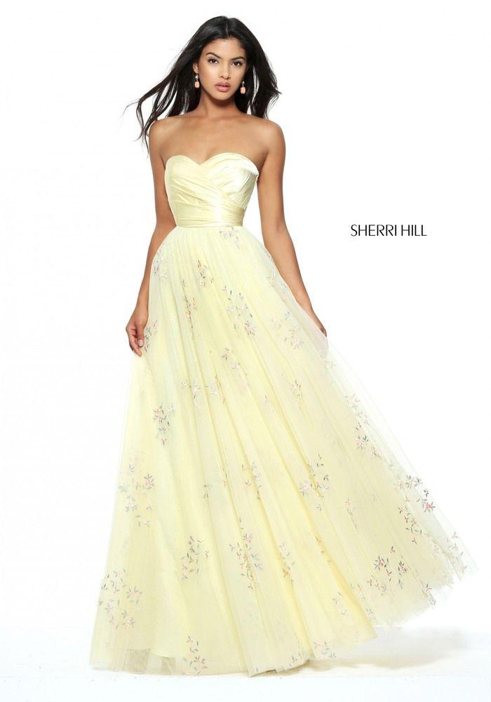 Sherri Hill yellow ballgown strapless sweetheart long. Sherri Hill Prom  DressesLong ...