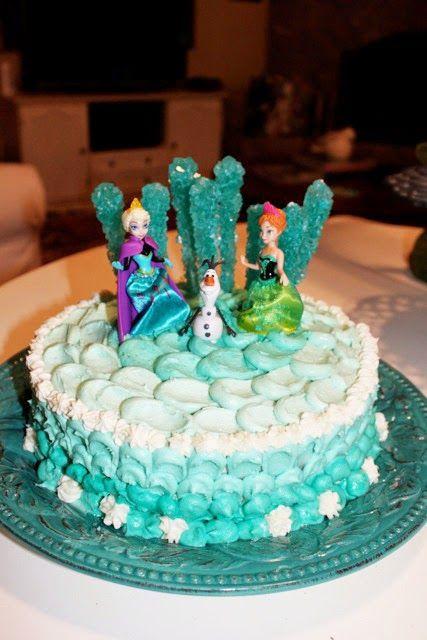 DIY Frozen Themed Cake Homemade Cake and Birthdays