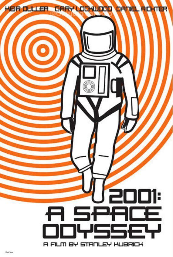 Film poster 2001- A Space Odyssey retro print in various sizes #filmposterdesign