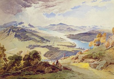 The Lakes Before Wordsworth Watercolor Landscape Paintings Landscape Paintings Watercolor Landscape