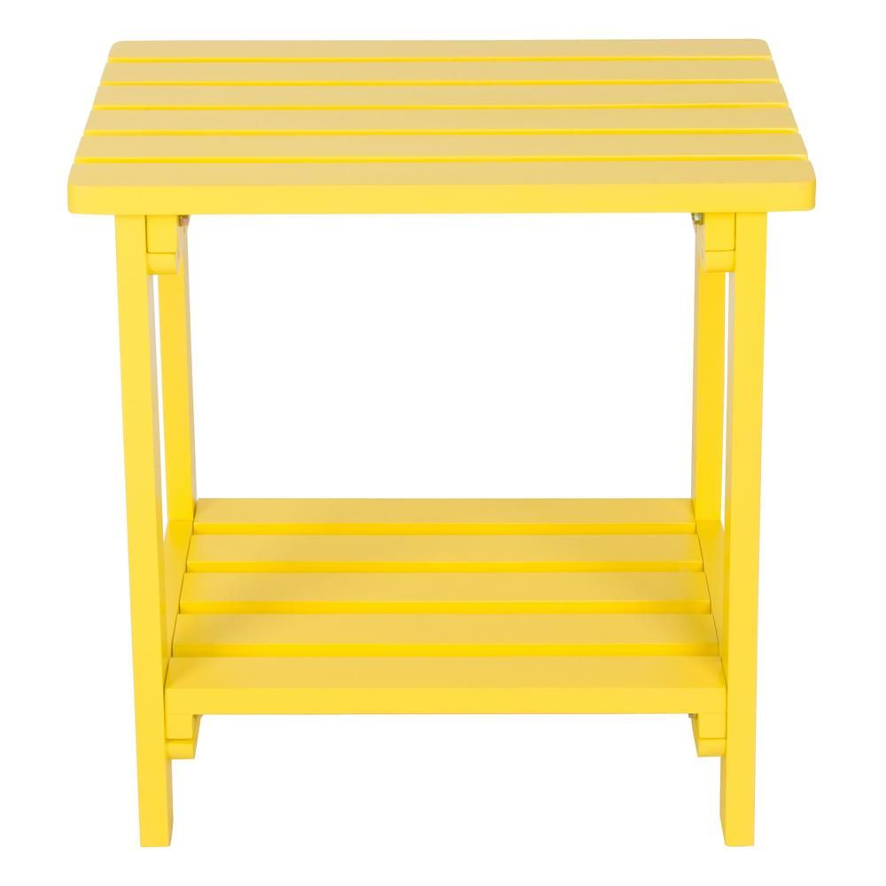 Shine Company Adirondack Round Folding Table Lemon Yellow