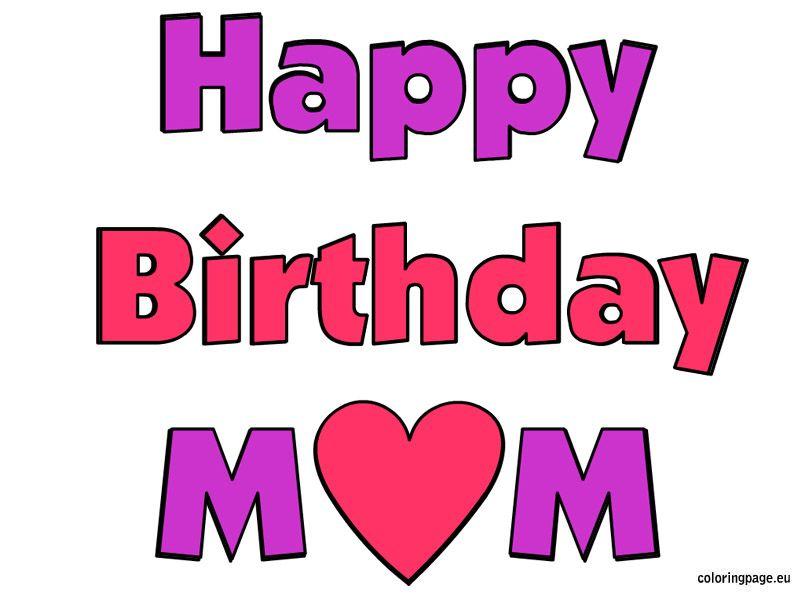 Happy Birthday Mom image free  Happy Birthday  Pinterest  Happy