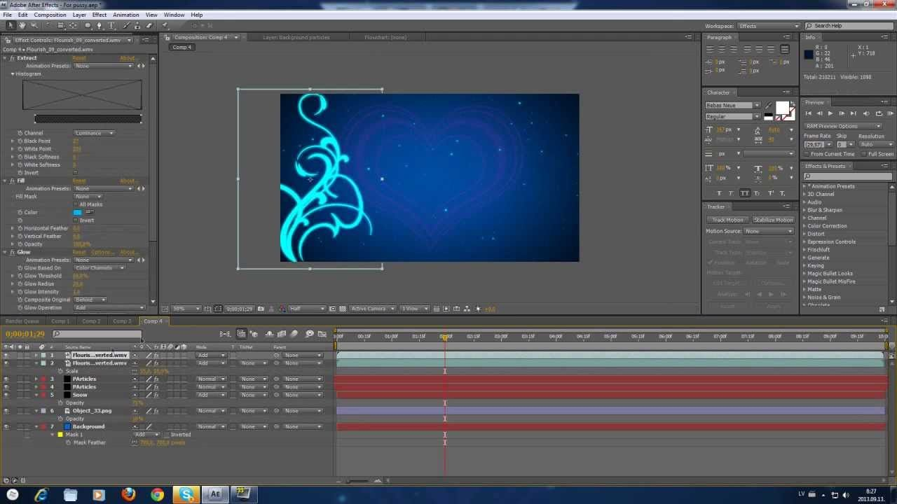 Adobe after effects cs4 tutorial en español / pantalla verde.