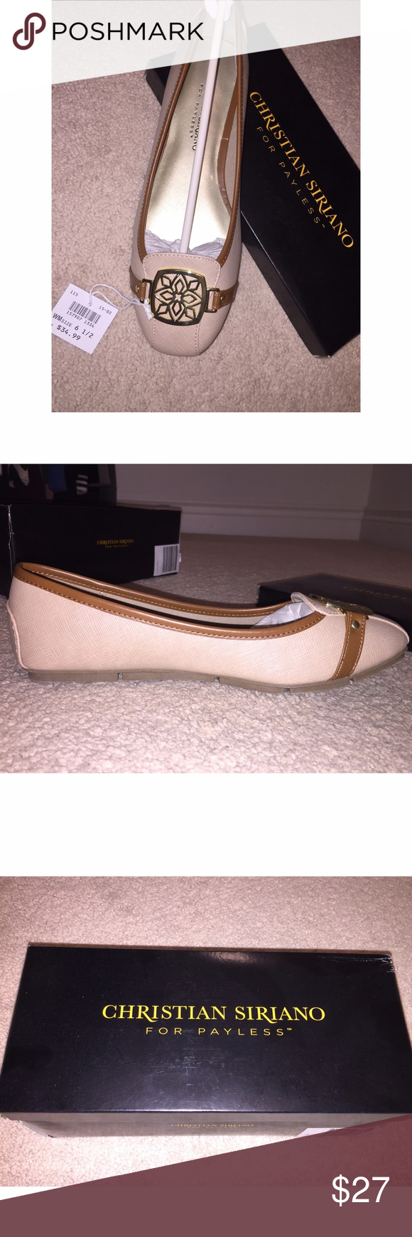 Christian Siriano flat Beige/ tan flat, never worn. Will ship in the original box, no trades. Smoke& animal free. Christian Siriano Shoes Flats & Loafers
