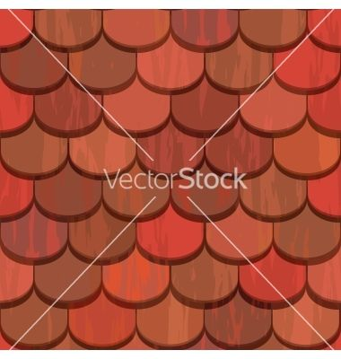 Seamless Red Clay Roof Tiles Vector Image On S Izobrazheniyami Cherepica