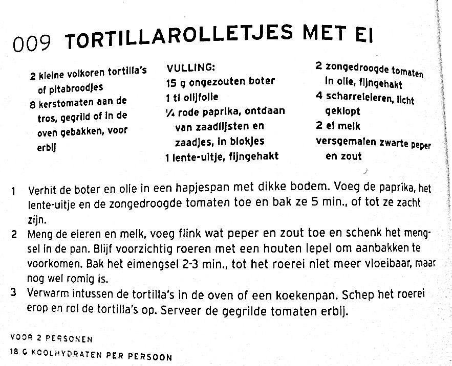 Tortillarolletjes met ei - low carb