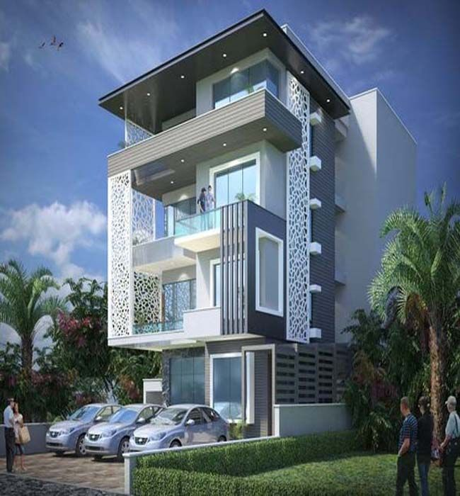 Modern House Front Design Ideas Exterior Wall Decoration