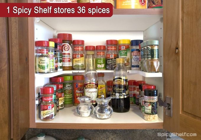 Spicy Shelf, the Ultimate Way to Store and Organize Spices by Dedee Dart —…