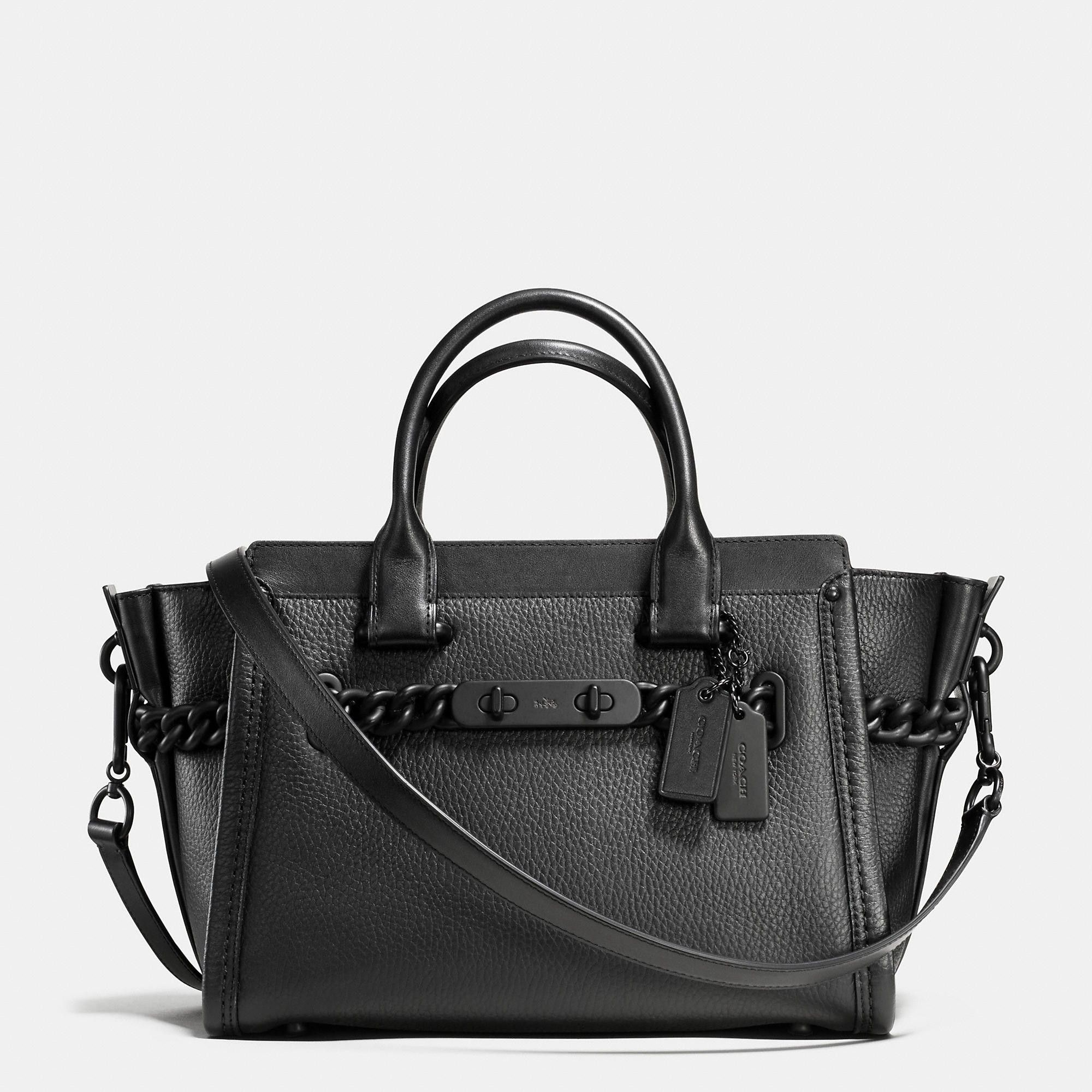 5127783e5f COACH Coach Id Swagger 27 In Pebble Leather.  coach  bags  shoulder bags   hand bags  leather  lining