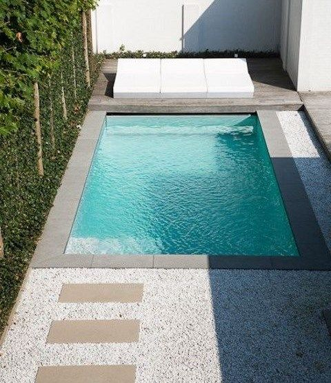 29 Small Plunge Pools To Suit Any Sized Backyard (and Budget) Been Wanting  A Pool Forever, Maybe One Of These Are Doable! They Look Like Resort Plunge  ...