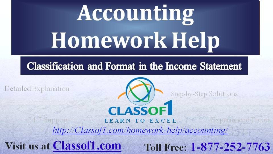 Classification and Format in the Income Statement Visit   - balance sheets format