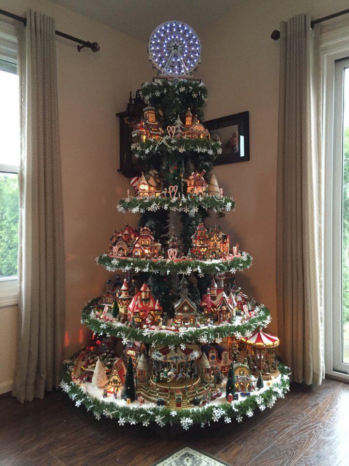 HOW TO BUILD a Village House Display Stand Dept 56 Lemax Christmas Halloween   Diy christmas ...