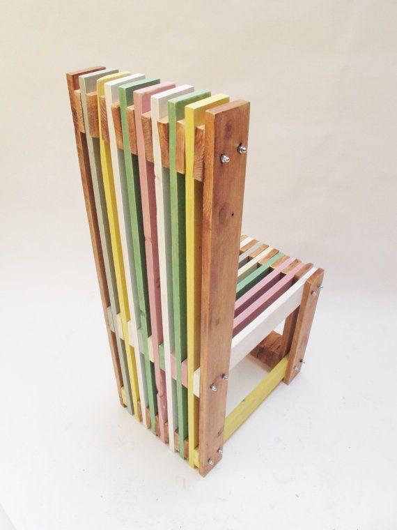 Sillas madera reciclada hechas a mano por encargo acabado - Mesas de madera hechas a mano ...