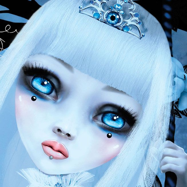 "Kerli ""Love is Dead"" CD covers (2008) by Natalie Shau, via Behance.net - <3<3<3 1) CLOSE-UP OF FACE AWESOME ART, THIS CREATIVE ARTWORK/ ILLUSTRATION IS CAPTIVATING - ABSOLUTELY STUNNING!<3<3<3"