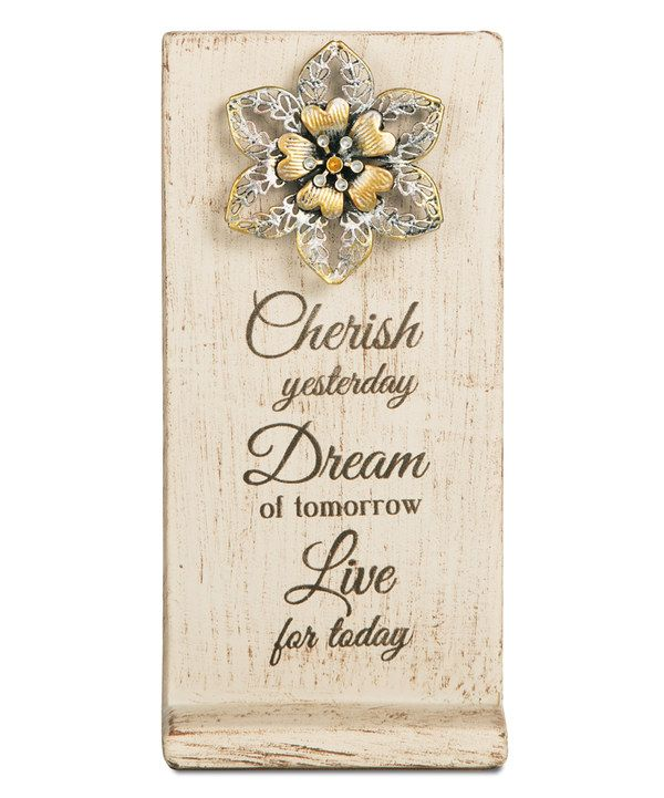 Look at this 'Cherish, Dream, Live' Floral Wall Art on #zulily today!
