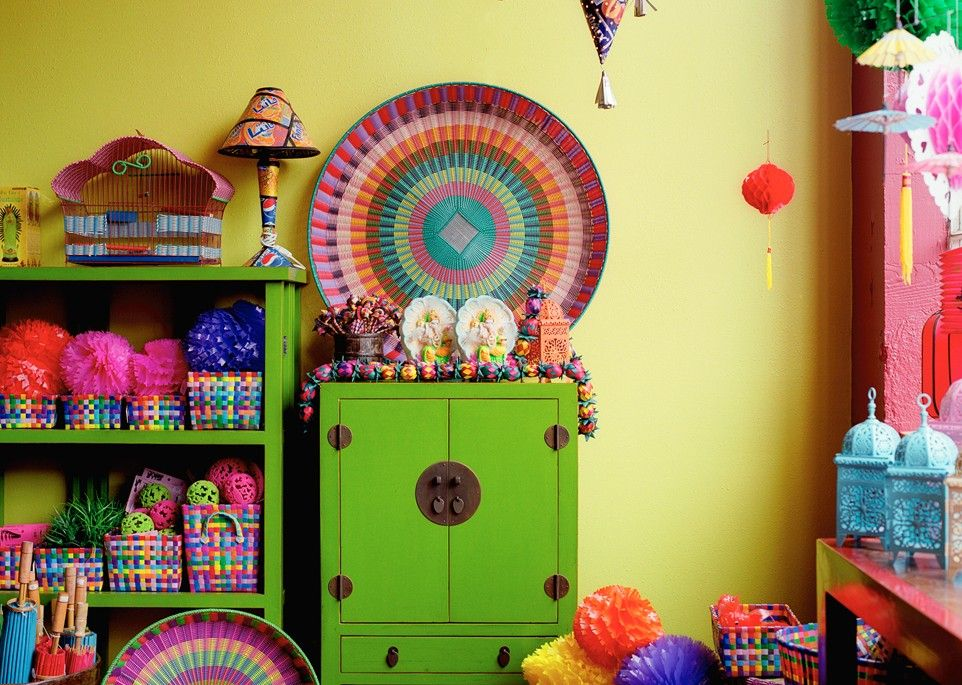 Funky Painted Furniture Bright Colors Happy