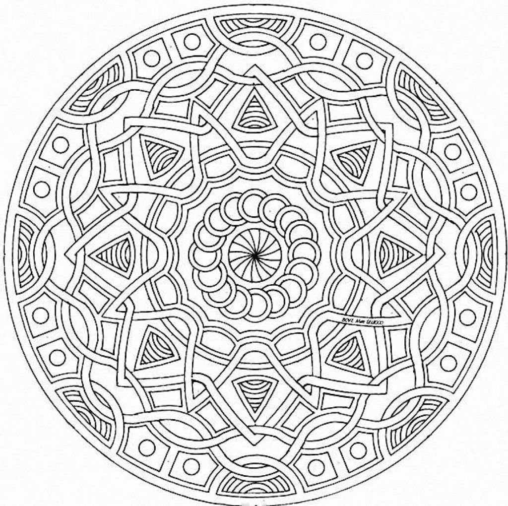 Free Printable Abstract Geometric Coloring Page