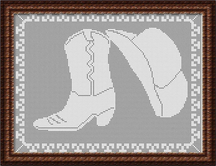 crochet pattern filet cowboy boots - Google zoeken | fillet crochet ...