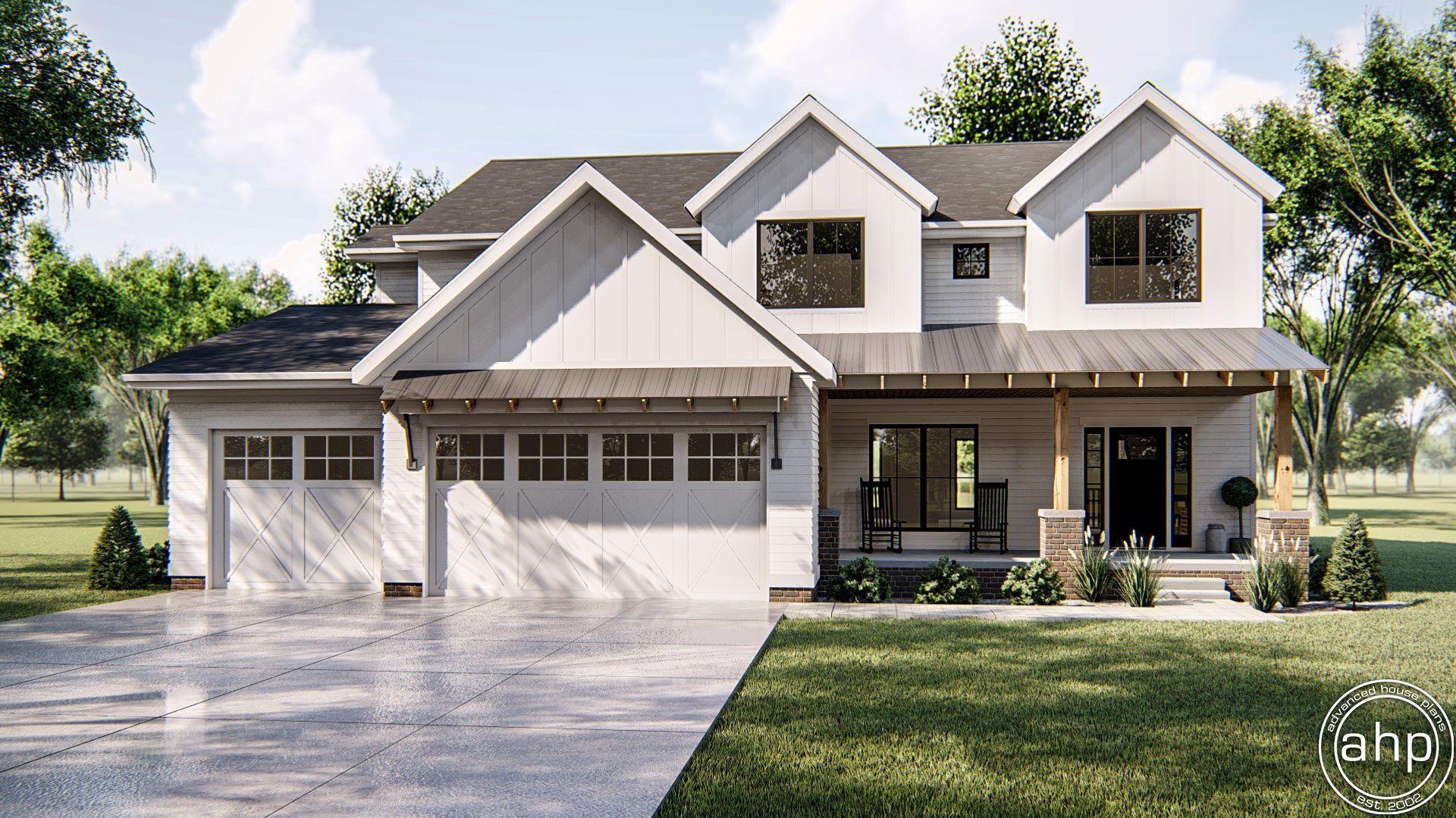 2 story modern farmhouse house plan sherman oaks house