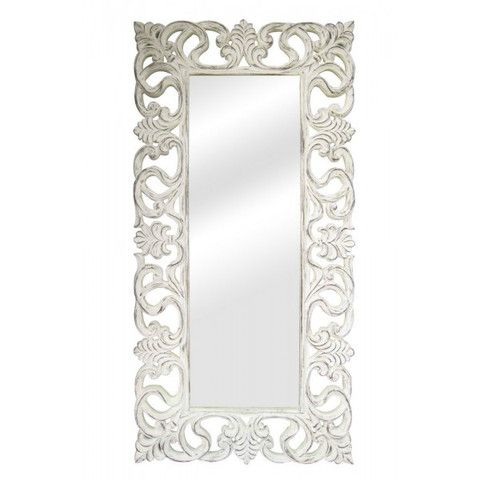 Home Kandi Antique White French Shabby Chic Rococo Floor Mirror ...