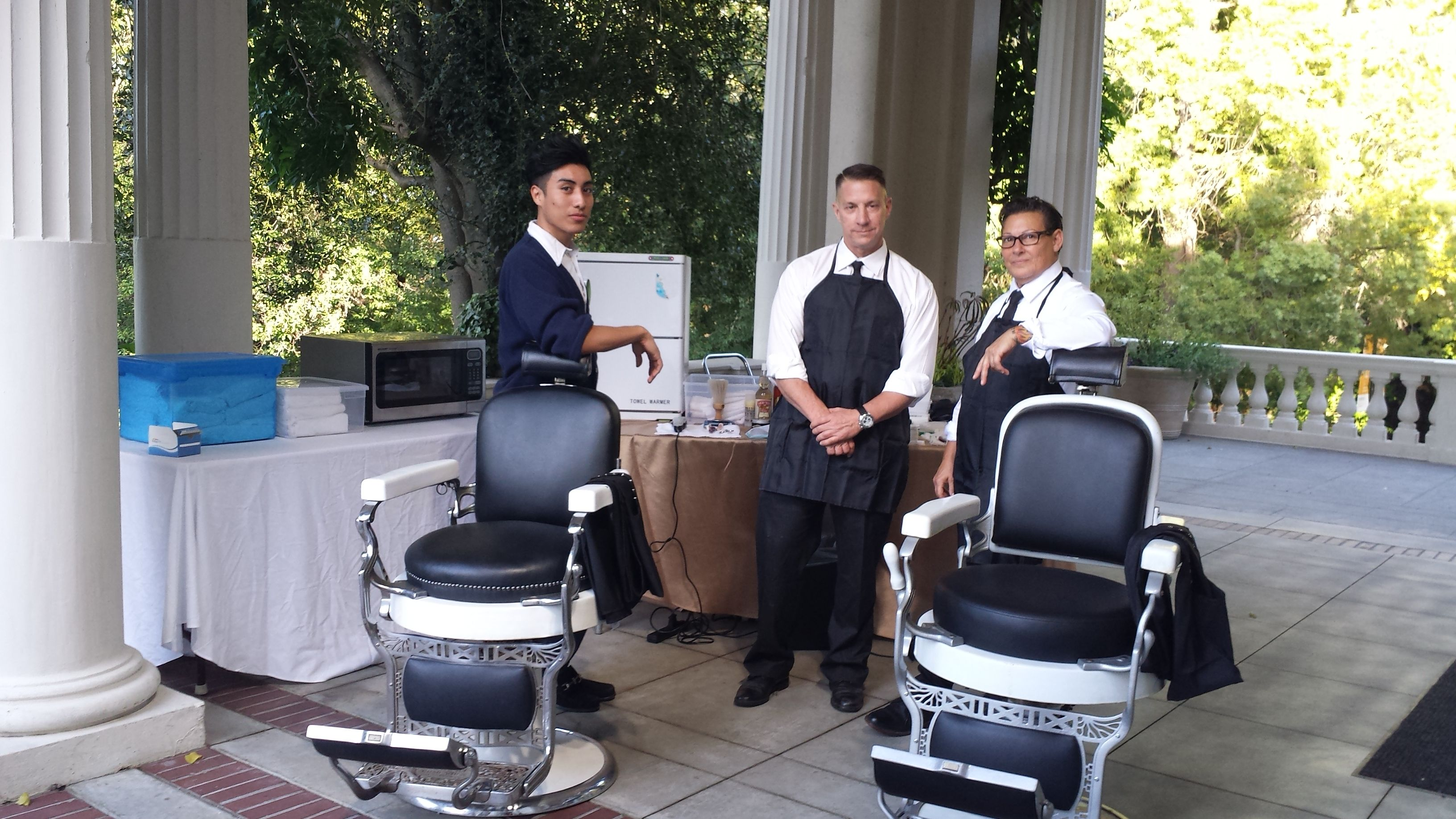a shave bar on the Veranda to pamper executives