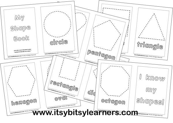 image relating to Printable Shape Book called Totally free+Printable+Preschool+Condition+Guide preschool/kindergarten