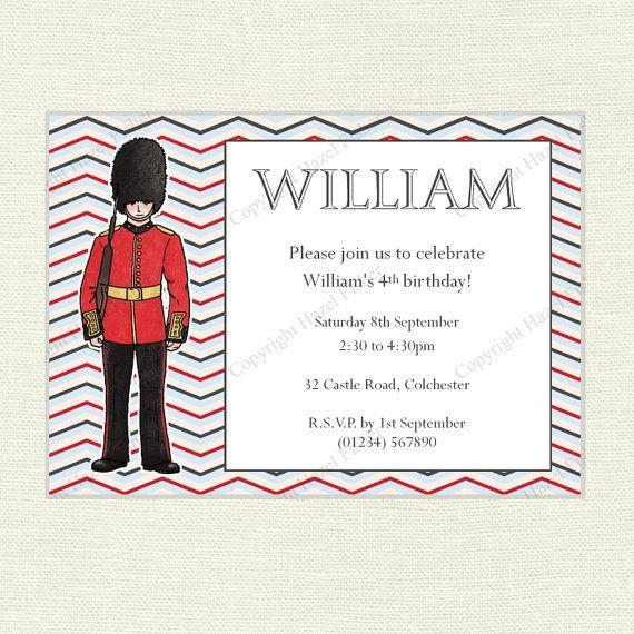 Personalised Playroom London Soldier Bunting Boy First Birthday Kids Bedroom