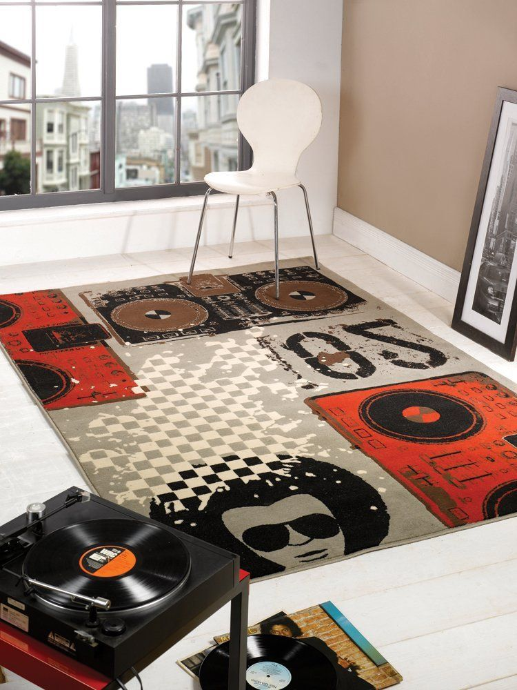 Cool Rugs For Agers Modern Beat Box Dj Design