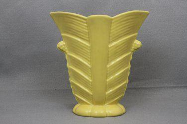 Haeger Pottery Vase Art Deco # 3461 Yellow