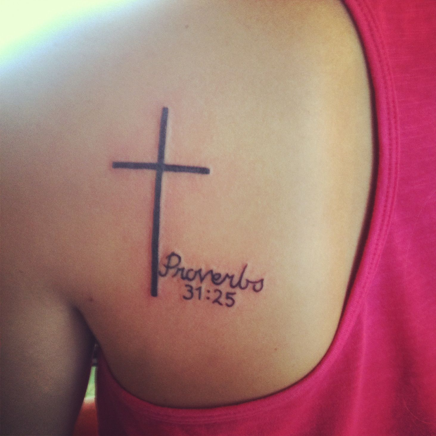 Tatoos She Is Clothed With Strength And Dignity: She Is Clothed In Dignity And Strength, And Laughs Without