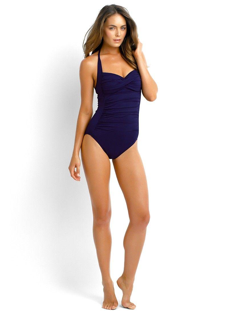 198174890ef Seafolly Goddess Twist Bandeau Maillot - $150   Swimwear   Swimwear ...