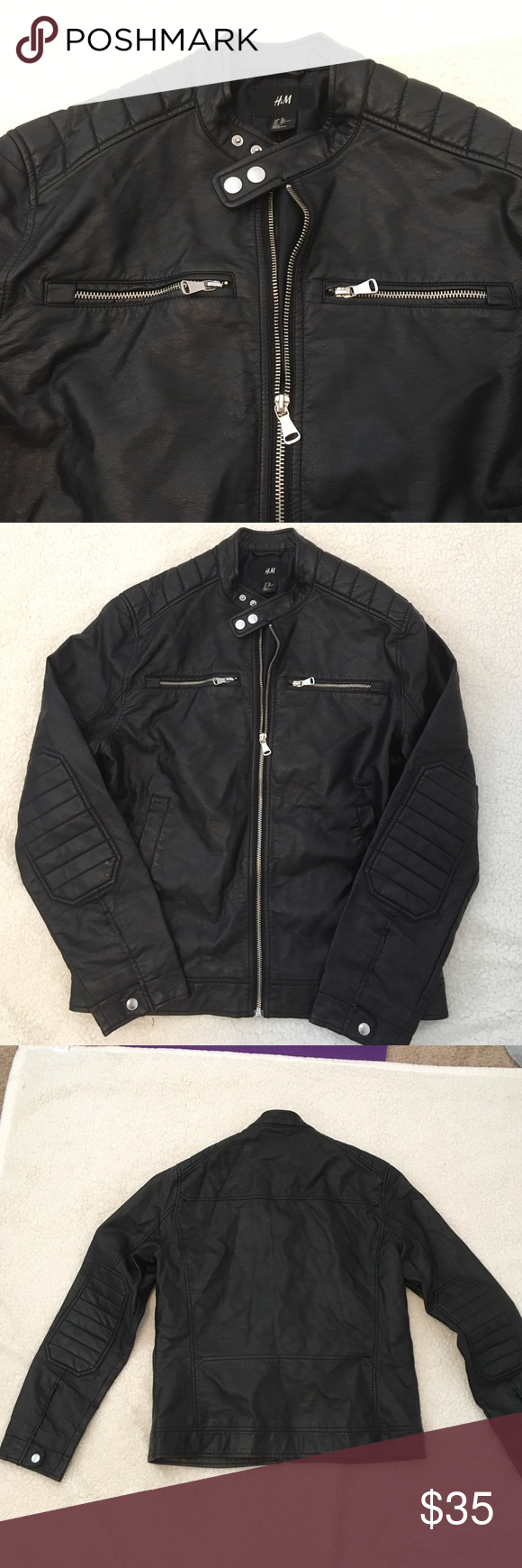 Men's H&M Leather Jacket NOT real leather. Only worn a few