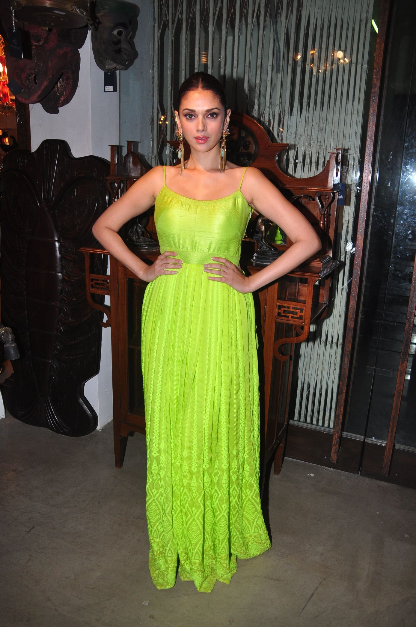 Spotted: Aditi Rao Hydari in an Anita Dongre gown   faces ...