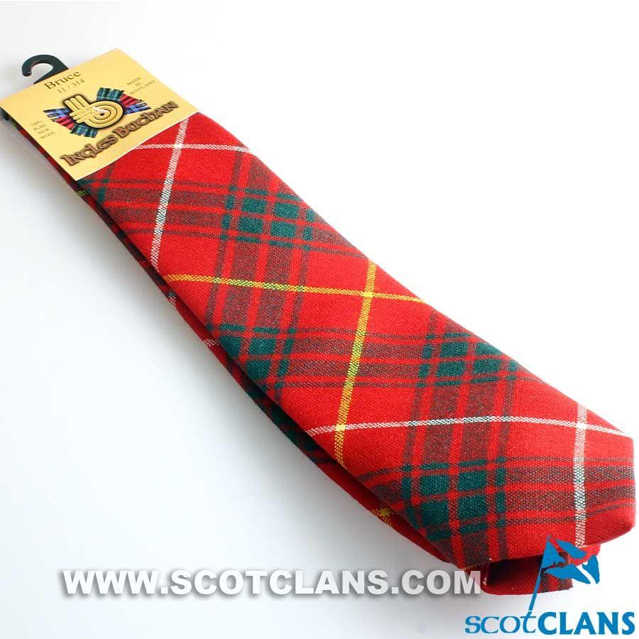 Mens Clan Tie Made in Scotland Bruce Ancient Tartan