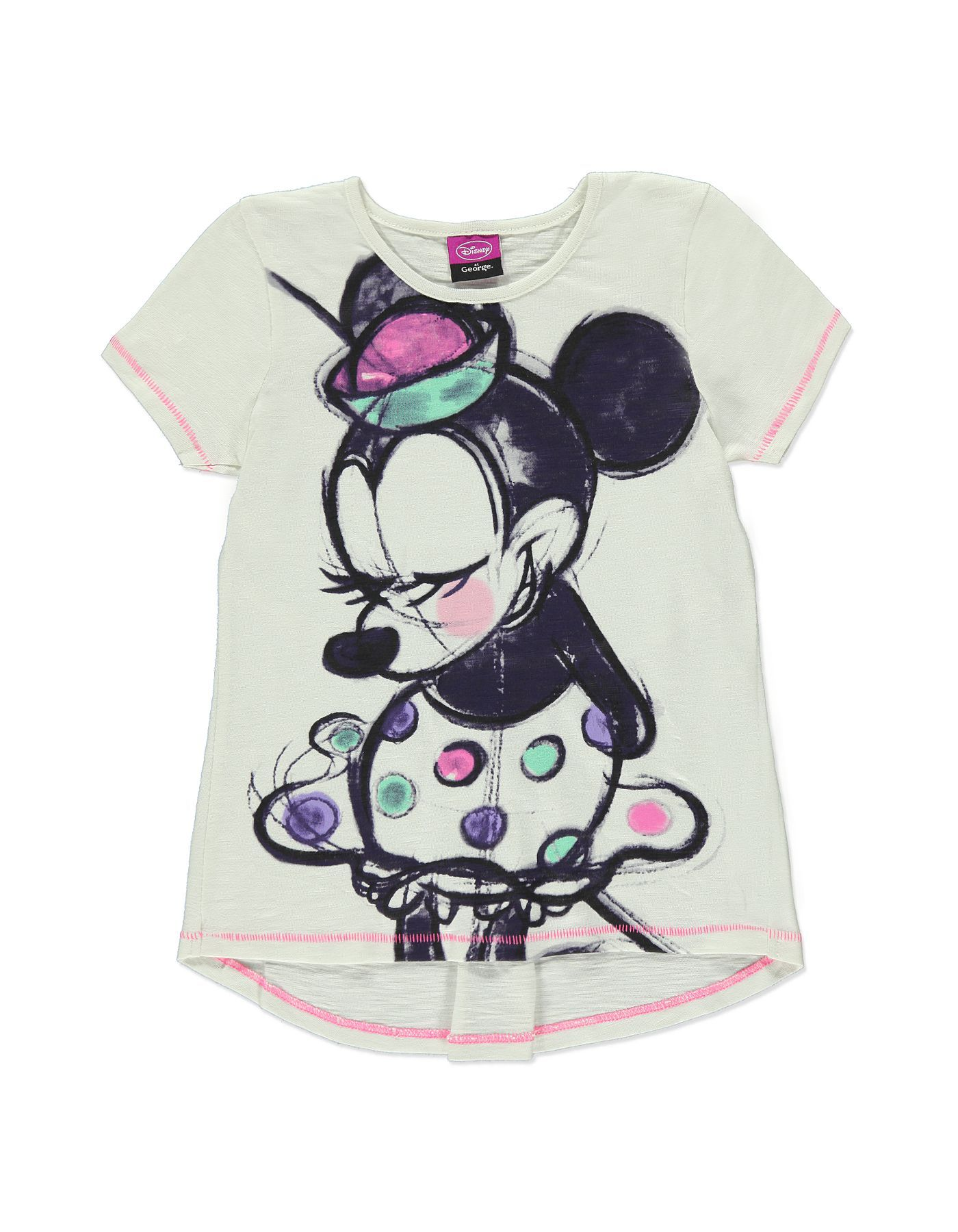 bd184e06f192c Minnie Mouse Artistic Print T-shirt | Girls | George at ASDA ...