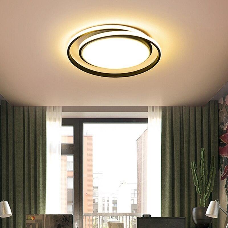 Round Modern Led Ceiling Lights For Living Room Bedroom Fixture