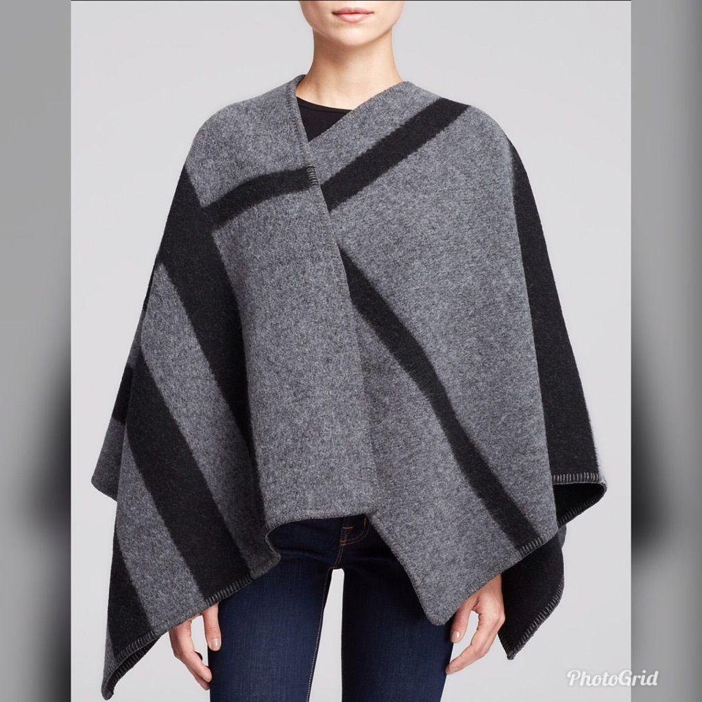 041c0693bb0d New Burberry Prorsum Mega Check Wool Cape Poncho