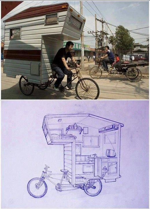 When space is extremely limited!  Very creative.