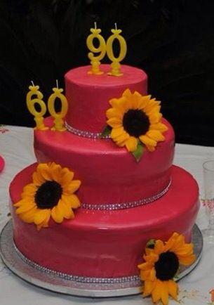 Fuxia e girasoli, sunflower cake