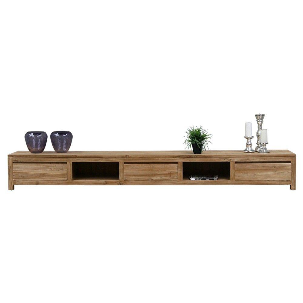 Tv dressoir teak 300cm staande tv meubelen tv meubel for Woning meubels
