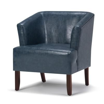 Simpli Home Longford Mid Century Modern 29 In Wide Tub Arm Chair