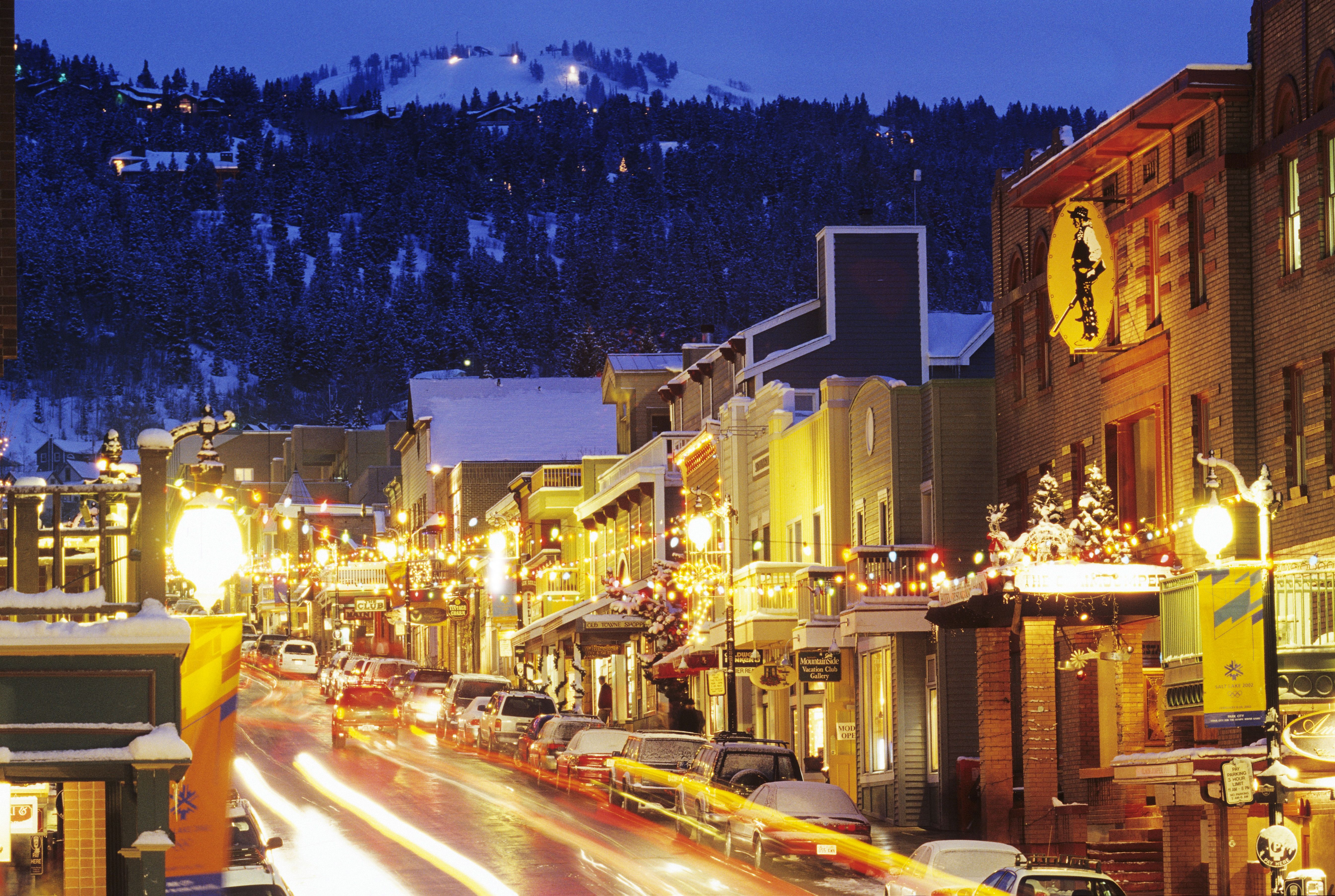 Historic Main Street In Downtown Parkcity Winter