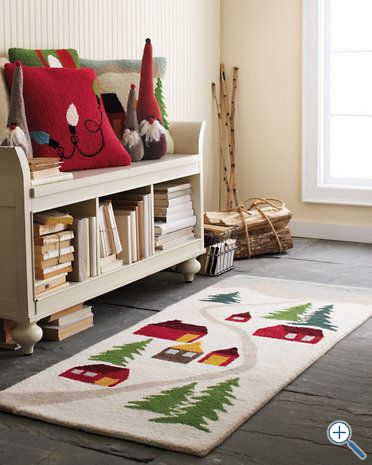 Hable Rugs Love The Little Wool Elves In The Background Decor Kids Holiday Decor Holiday Decor