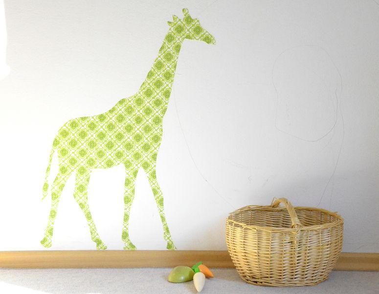 Kinderzimmer wandgestaltung giraffe  Tapetentier - Giraffe | Giraffen, Dawanda und Wandgestaltung ...