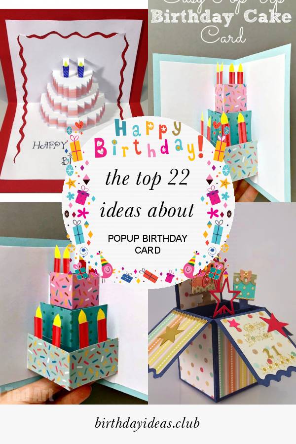 Amazing The Top 22 Ideas About Popup Birthday Card Unique Birthday Cards Funny Birthday Cards Online Fluifree Goldxyz