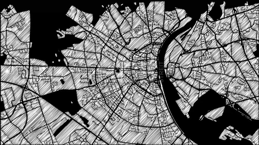 Cologne, Germany, City Map Animation Footage 4K Loop | Maps Vector ...