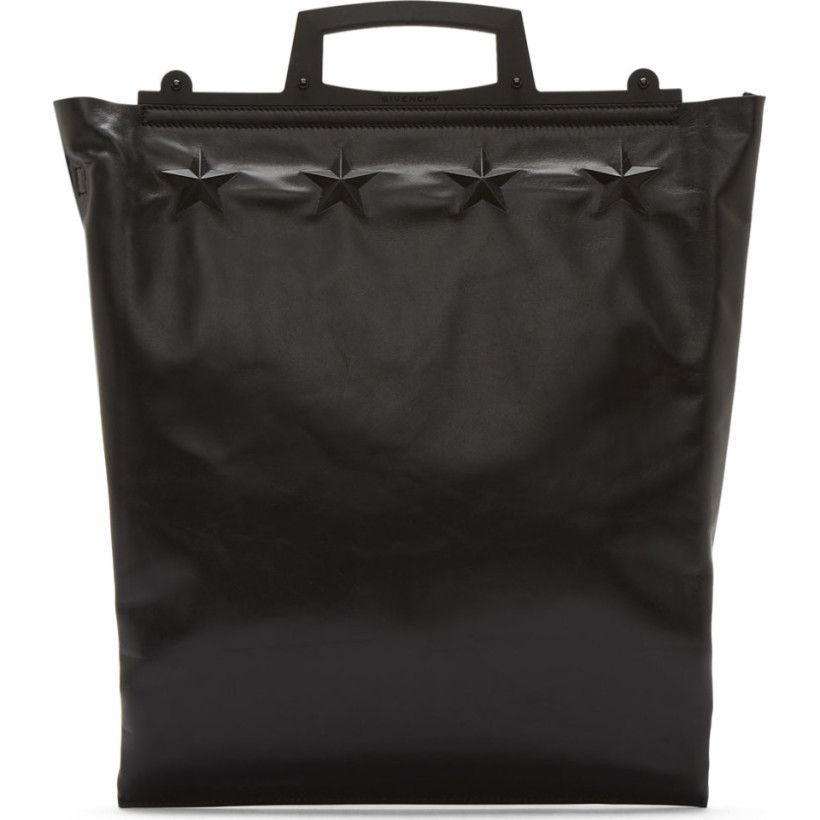 Givenchy Black Leather Rave Frame Tote