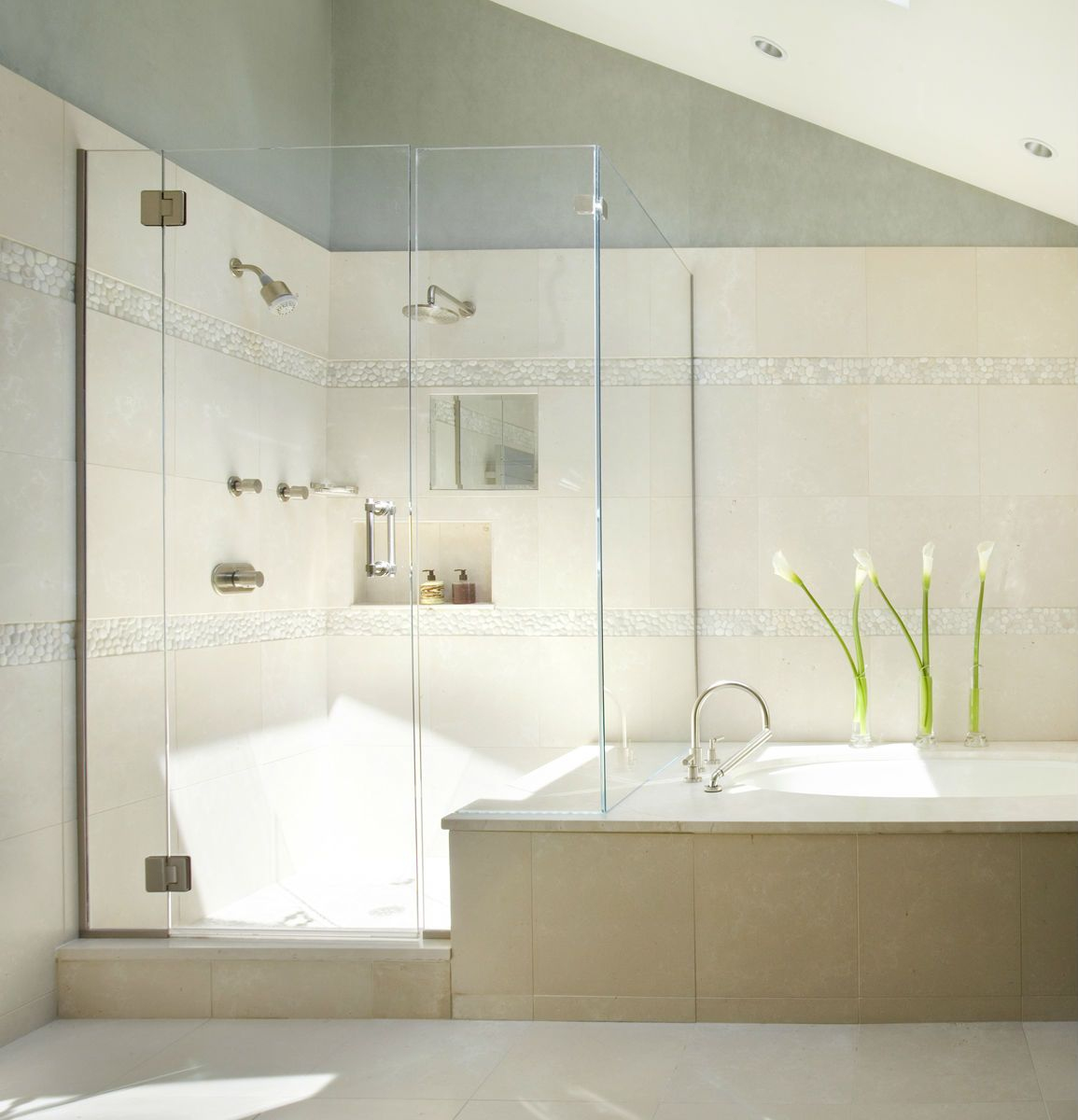 images showers with river rock | Menagerie of Materials: River ...