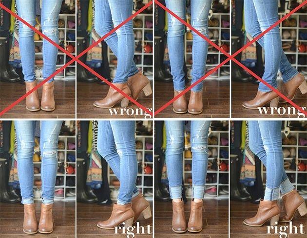 Lernen Sie diese verschiedenen Möglichkeiten kennen, wie man Stiefeletten trägt #jeansandboots