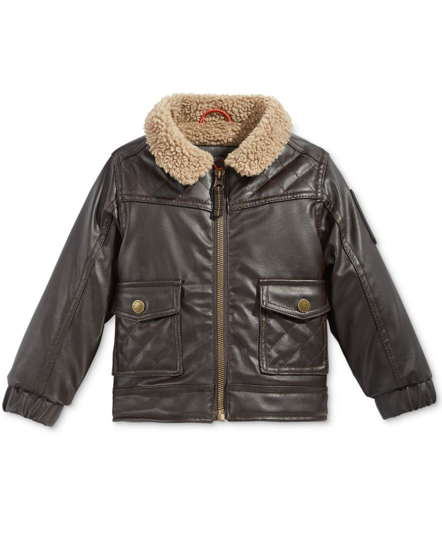 Hawke Co Outfitter Baby Boys Faux Leather Bomber Jacket Faux Leather Bomber Jacket Bomber Jacket Jackets [ 1080 x 884 Pixel ]